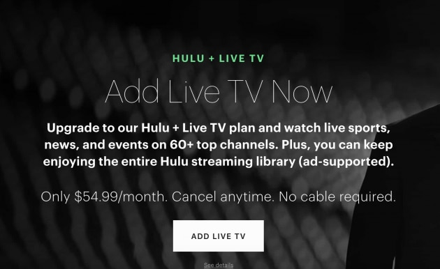 Hulu + Live TV's 3 million subscribers further dooms pay TV