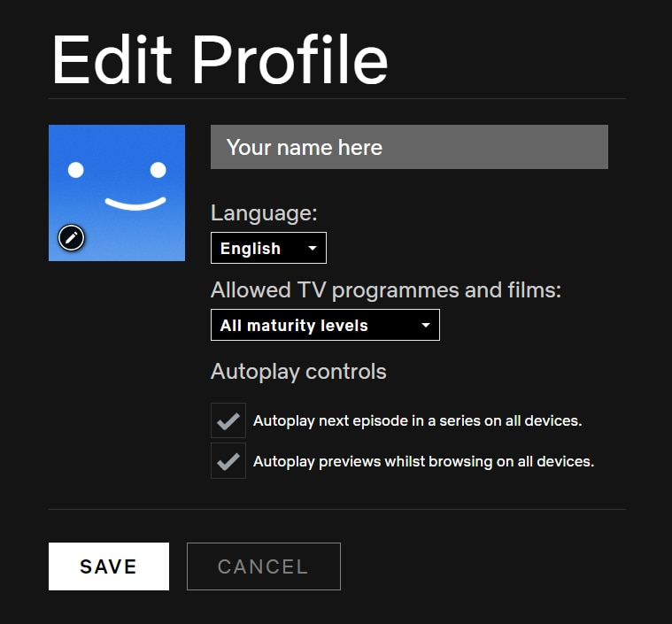 Netflix browsing autoplay toggle